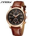 SINOBI Mens Relógios Top Marca de Luxo de Genebra de Pulso de Ouro dos homens de Quartzo Relógios Masculino Cronógrafo Relogios masculinos 2016 Relógios