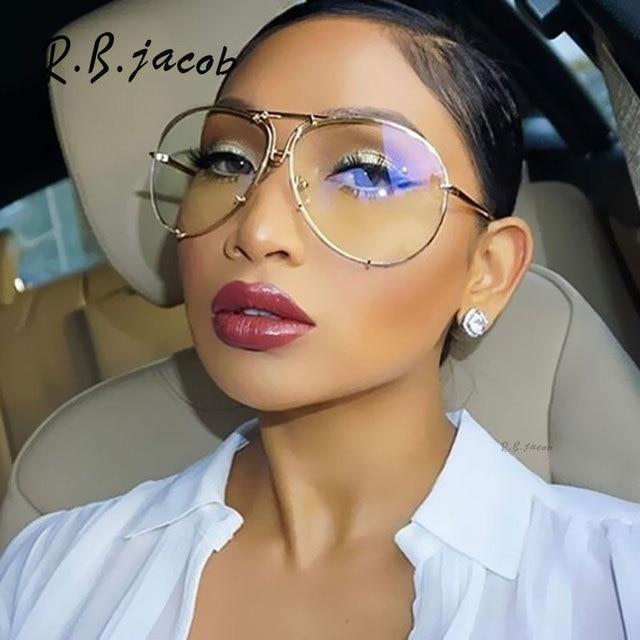 95d0cbcea30af3 Aviation Surdimensionné 2017 New Célèbre Marque Design transparent Femmes  Hommes Miroir lunettes de Soleil Lecteur Lunettes