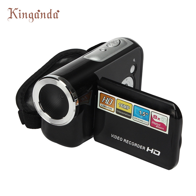 Hot ! Portable & Mini HD 720P Camera Camcorder 1.5 Inch TFT 16MP 8X Digital Zoom Video Camcorder Camera DV #Dec7 hot sale easy use hd 720p 12m 8x digital zoom video camcorder camera gift for family happy recording 1pc