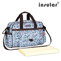 Moda Nylon 420D del bebé de gran capacidad bolsas de pañales mensajero para mamá de enfermería bolsa siesta bolsas