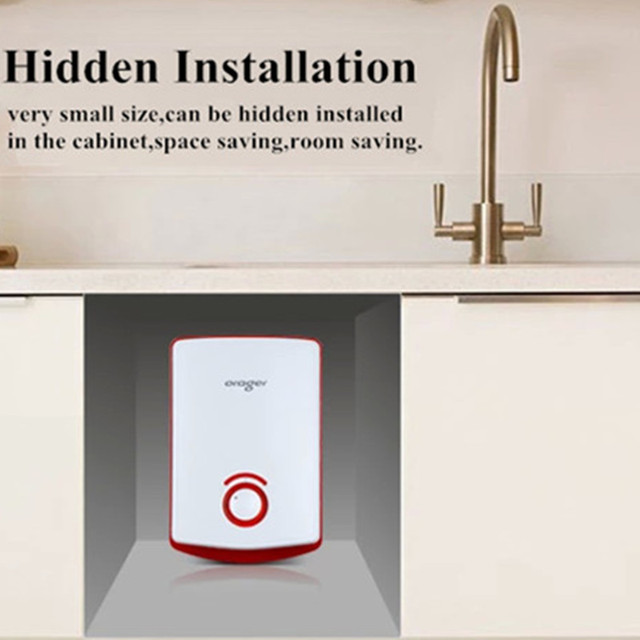 Kitchen water heater tap tubing Tankless Electric Sink Washroom ...