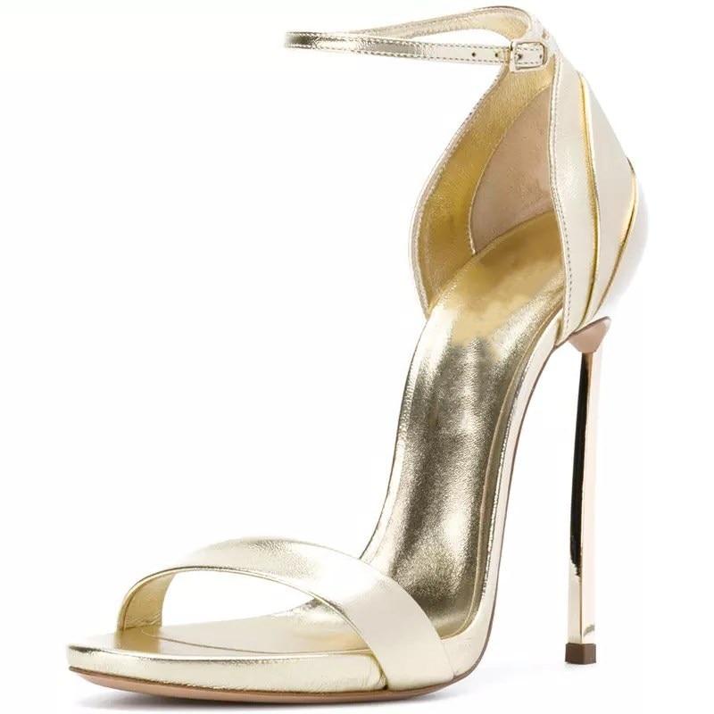 34 Tamaño Mujeres silver Hebilla Zyl2495 Alto De Bolso Sandalias Enmayer Mujer Tacón Correa 2019 Tacones Gold Zapatos 43 Casual U6COqx
