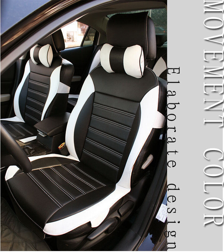 Car Seat Cover Black White Needlework PU Leather Fit For CC Buick Titan Skoda In Automobiles Covers From Motorcycles On Aliexpress