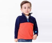 New Blue Patchwork 4-8Y Boys Winter Jacket Kids Fleece Full Sleeve Pullover Kids Children Clothing Outwear KW-1636