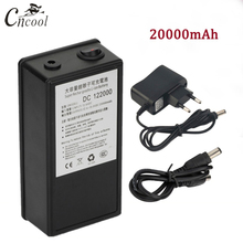 Cncool DC 12V High Quality Rechargeable Portable Lithium-ion Battery With Case 20000mAh 122000 For Cameras Camcorders