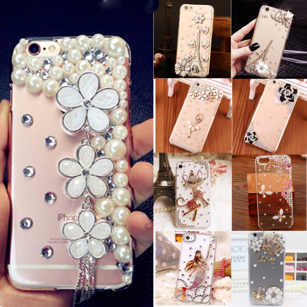 Cases For Oppo F1s A37 A39 Flower Lovely Diamond Fluffy Hard Glitter Bling Wrap Skin Tpu Pc Acrylic Crystal Rhinestone Diy Handmade Fashion 3d Luxury Soft Phone