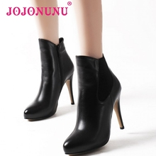 women real natrual genuine leather high heel  boots half short botas winter heels boot warm footwear shoes R7342 size 34-39