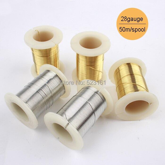 0.2mm Alambre De Cobre Artesanal Marrón 35m Carrete Accesorio bricolaje artesanías de fabricación de joyas