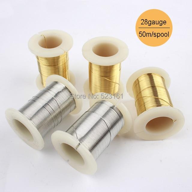 03mm 50m 55yd silver gold copper wire thread spool for jewelry 03mm 50m 55yd silver gold copper wire thread spool for jewelry making 28gauge dead soft greentooth Gallery