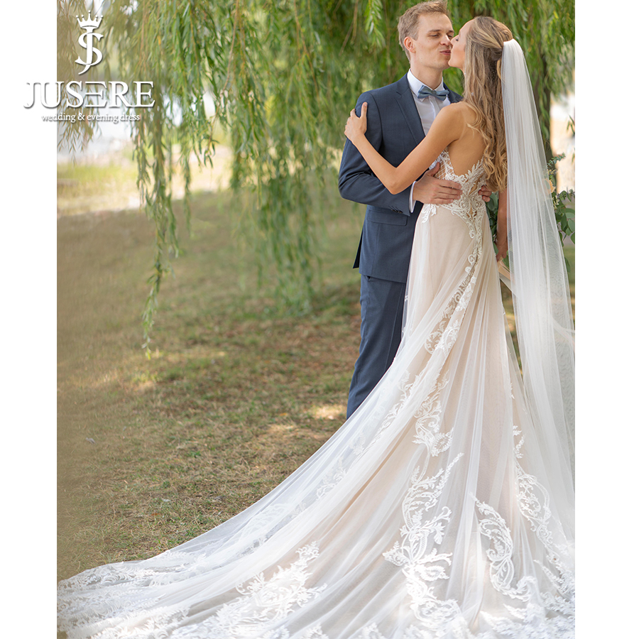 Aliexpress.com : Buy 2018 New Arrival Champagne Bridal Gown Trumpet ...