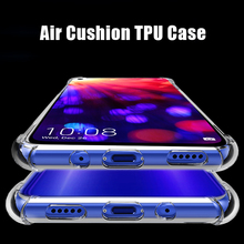 For Huawei Honor View 20 Case Air Cushion TPU Soft Silicone Clear Shockproof Back Cover Phone Coque