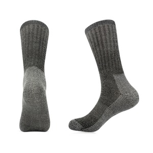 Image 2 - 3pairs/bag Vihir Men Winter Cushioned Merino Wool Socks High Knee Outdoor Sports Hiking Camping Climbing Socks Cycling Ski Socks
