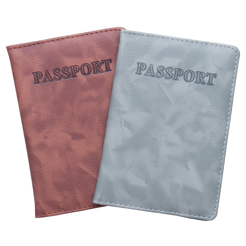 Architecture Buildings Bottom View Leather Passport Holder Cover Case Travel One Pocket