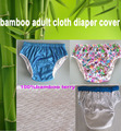 3 color chioce  waterproof Adult cloth diaper cover Nappy nappies bamboo diaper diapers S M L