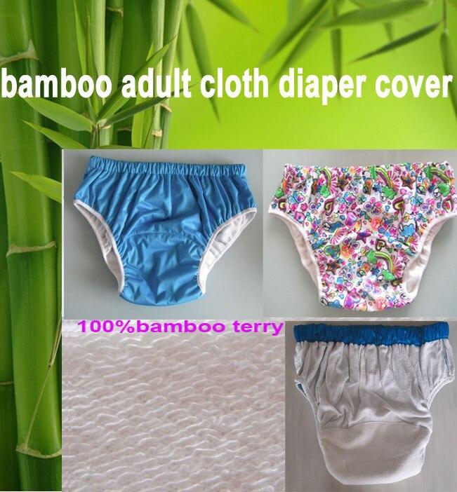 3 Farbwahl wasserdicht Erwachsene Stoffwindelabdeckung Windelwindeln Bambuswindelwindeln S M L