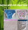 3 colores chioce cubierta impermeable Adultos pañal de tela Pañales pañales de bambú pañales S M L