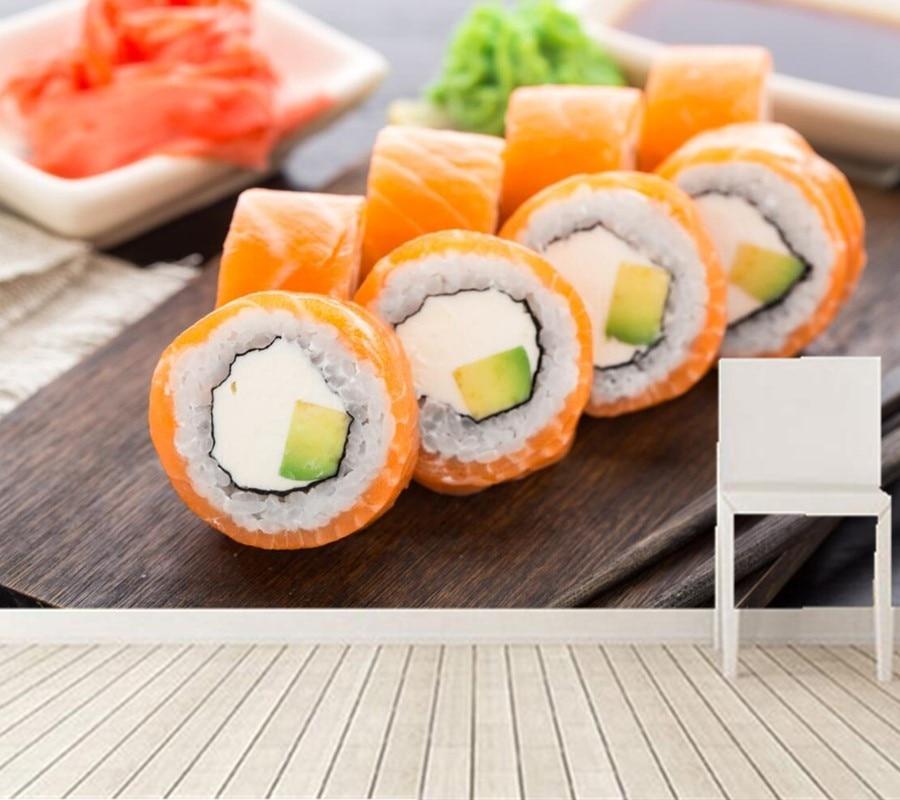 grandes murales de papel de parede mariscos comida sushi wallpapers comedor restaurante de