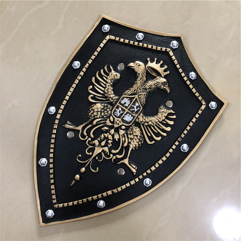 1:1 Cosplay Weapon Prop Royal Double Eagle Crown Knight Glory Shield Movie Game Anime Role Play Halloween Link Cos Gift PU