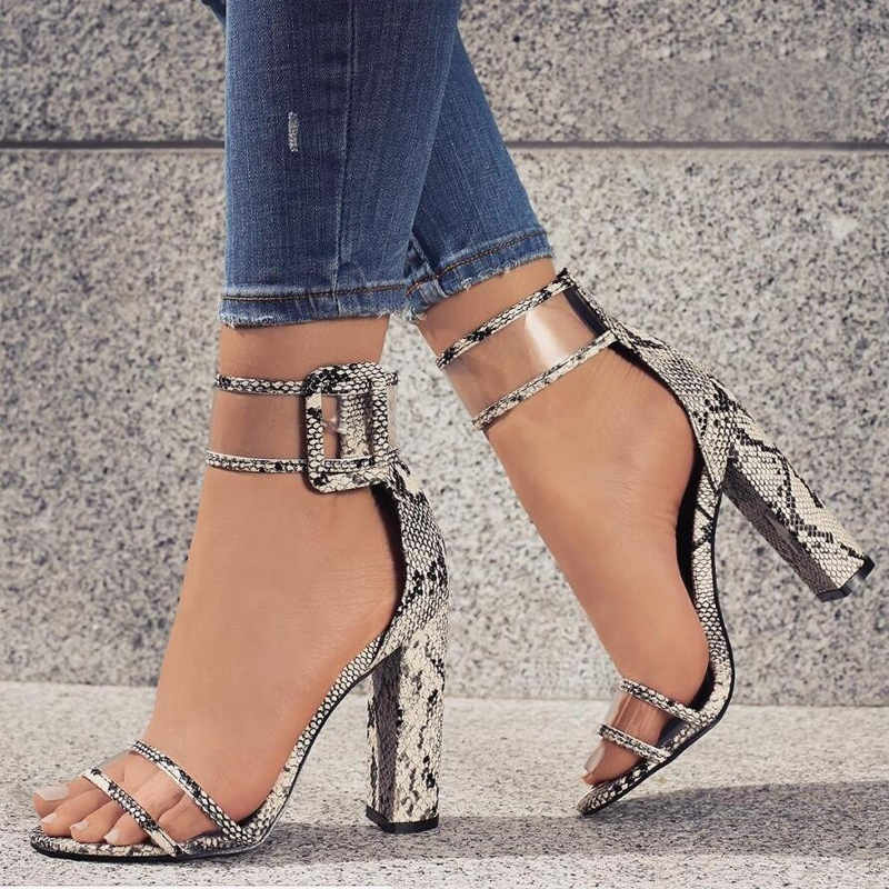 Super high shoes women pumps sexy clear transparent strap buckle summer sandals high heels shoes women
