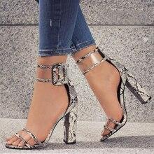 Супер высокая обувь Для женщин Насосы пикантные прозрачные ремень Пряжка Лето Сандалии обувь на высоком каблуке Женская обувь для вечеринок AY912509