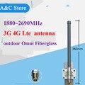 3 г 4 г lte антенны 1880-2690 МГц Omni Стекловолокна Антенна с высоким коэффициентом усиления 6dBi на открытом воздухе для Сотового Телефона Усилитель сигнала Ретранслятора N-Female