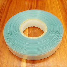 10m/lot transparent color 18650 lithium battery PVC thermal shrinkable sleeve film