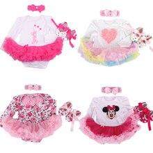 Baby Girl Infant 3pcs Clothing Sets Long Sleeve Tutu Romper Dress/Jumpersuit+Headband+Shoes Bebe Birthday Party Costumes Vestido