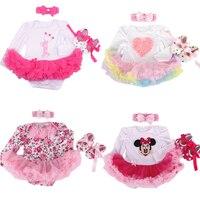 Xmas Baby Girl Infant 3pcs Clothing Sets Long Sleeve Santa Clause Tutu Romper Dress Jumpersuit Christmas