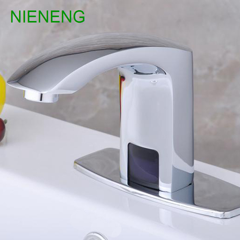 ᗛNIENENG sense faucets sink taps hotel washroom bathroom faucet lab ...