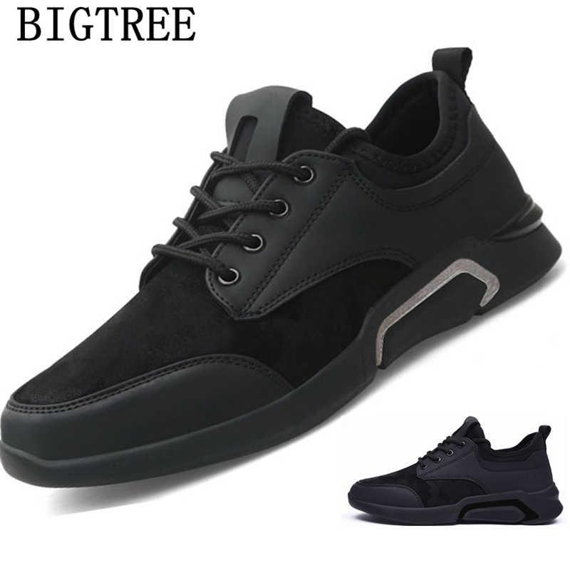 Mens รองเท้าหนังลำลองรองเท้าผ้าใบรองเท้าแฟชั่น 2019 รองเท้าผ้าใบแบรนด์หรูฤดูหนาวรองเท้าผู้ชาย chaussure homme tenis masculino