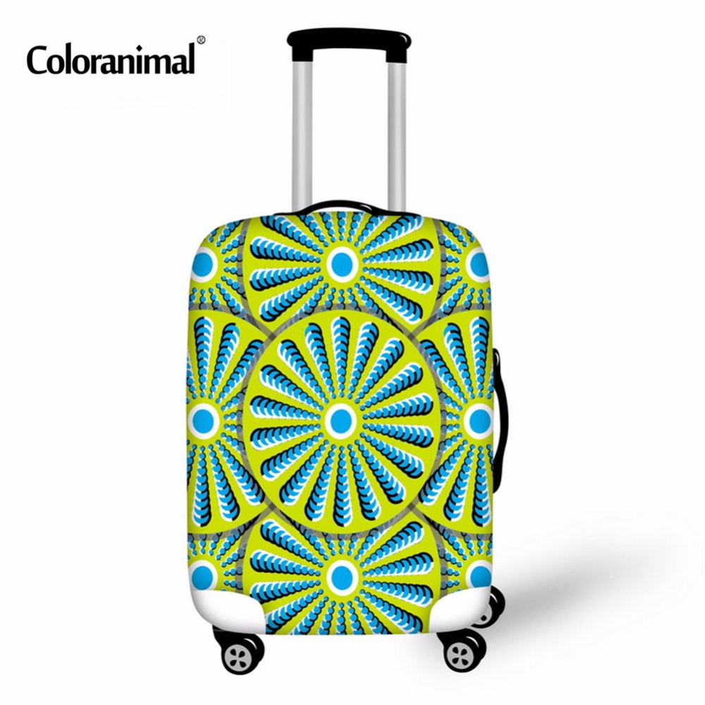 Coloranimal Geometery Paisley Luggage Suitcase Cover Dustproof Elastic Thick Luggage Protectiver Case Cover Travel Accessories