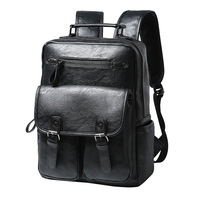 Multifunction Male Functional bags Fashion Men backpack PU Leather backpack big capacity bags large laptop shopping travel bag
