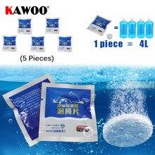 KAWOO авто лобовое стекло для мытья стекла концентрированный Effervescent таблетки очиститель для автомобильного стекла шайба 5 шт./лот