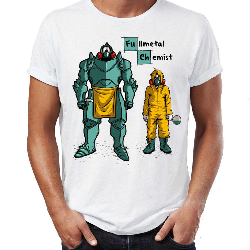 18d97fc0e Men's T Shirt Breaking Bad Full Metal Chemist Alchemist Artsy Awesome  Artwork Printed Tee
