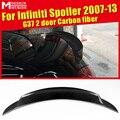Задний спойлер высокого качества из углеродного волокна задний спойлер багажника задний крыло автомобиля Стайлинг Аксессуары для infiniti G37 2-...
