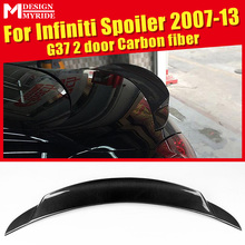 Rear Spoiler High-quality Carbon Fiber Trunk Tail Wing car styling Accessories For infiniti G37 2-Door 2007-2013