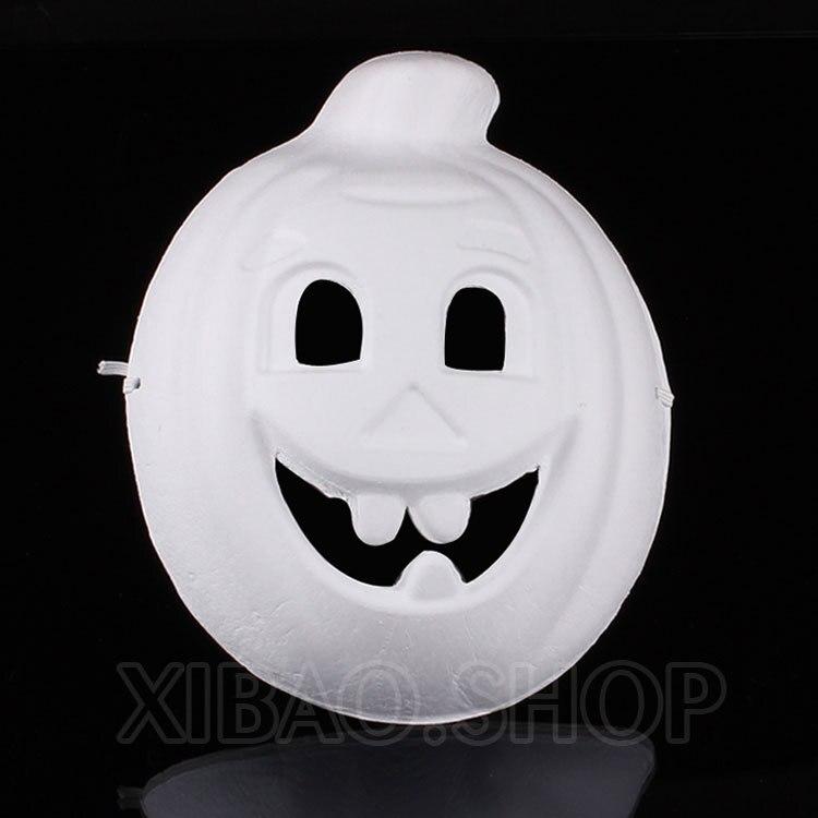 10 stücke party DIY maske Halloween handgemalte weißen gesichtsmaske ...