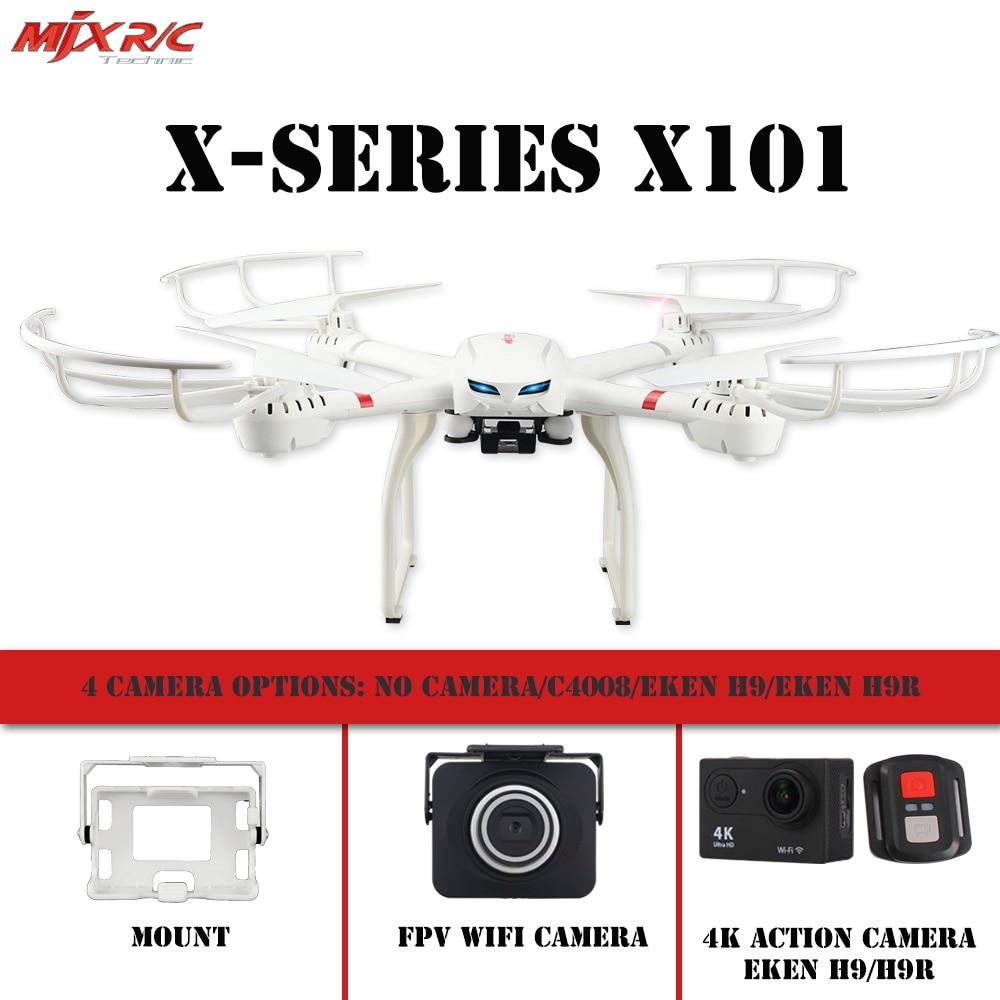 MJX X101 drone 2.4G RC 6-axis quadcopter could add C4008/Eken H9/H9R/SJCAM/Gopro Camera