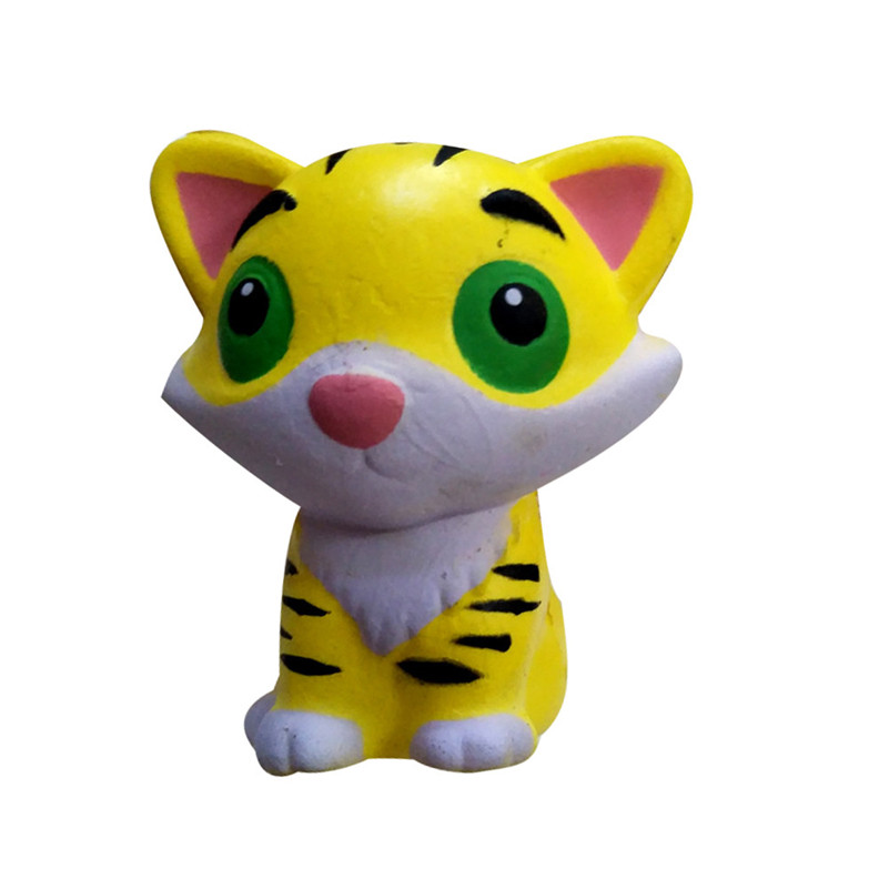 Squishies Adorable Tiger Slow Rising Cream Squeeze Scented Stress Relief Toys  Antistress Visqueux Squishi Toys For Children A1