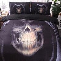 3D Skull Bedding Set Twin Queen King Size 2 3 Pcs Rock Skull Duvent Cover Home