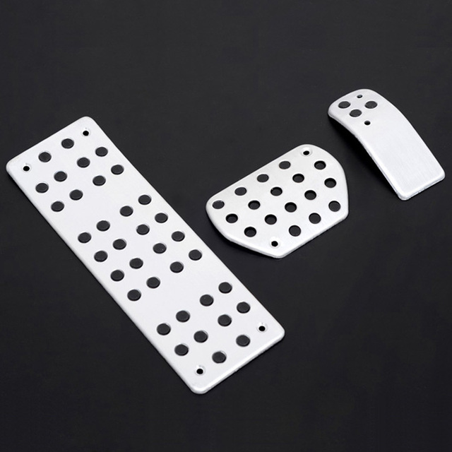 For Peugeot 307 408 308 3008 2008-2012 first generation Fuel Brake Foot Rest Foot Pedals Plate AT Pedal Pads 3pcs