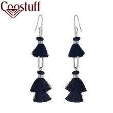 2019 New Hotsale BlackTassel earrings for Women Vintage Earrings Trend Fashion Jewelry Wholesale Dangle pendientes brincos