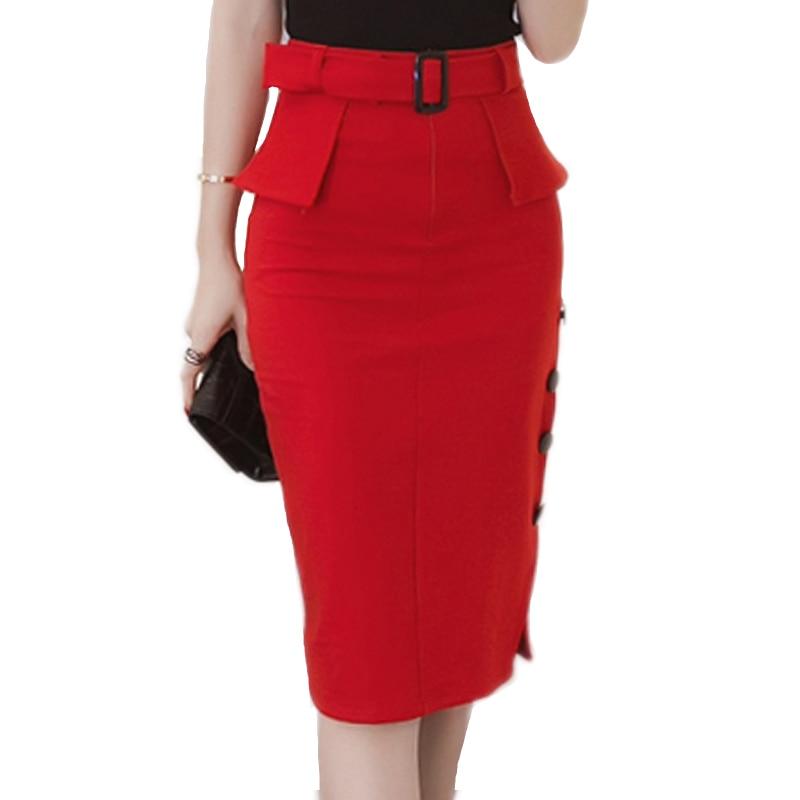 new 2017 fashion skirts high waist midi skirt