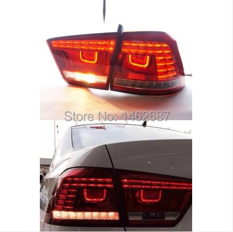 Free shiping ! 12V 6000k LED Rear light for VW Volkswagen Santana 2013-2014 taillight lamps auto light brake light LED lights car rear trunk security shield cargo cover for volkswagen vw tiguan 2016 2017 2018 high qualit black beige auto accessories
