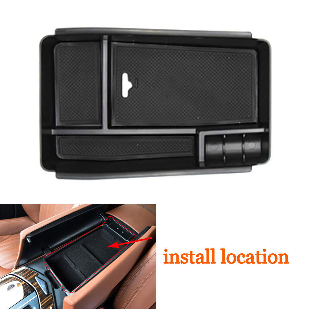 Car Interior Console Armrest Secondary Storage Box Container Box Holder Fit For Maserati Levante 2016 2017 Car Accessary