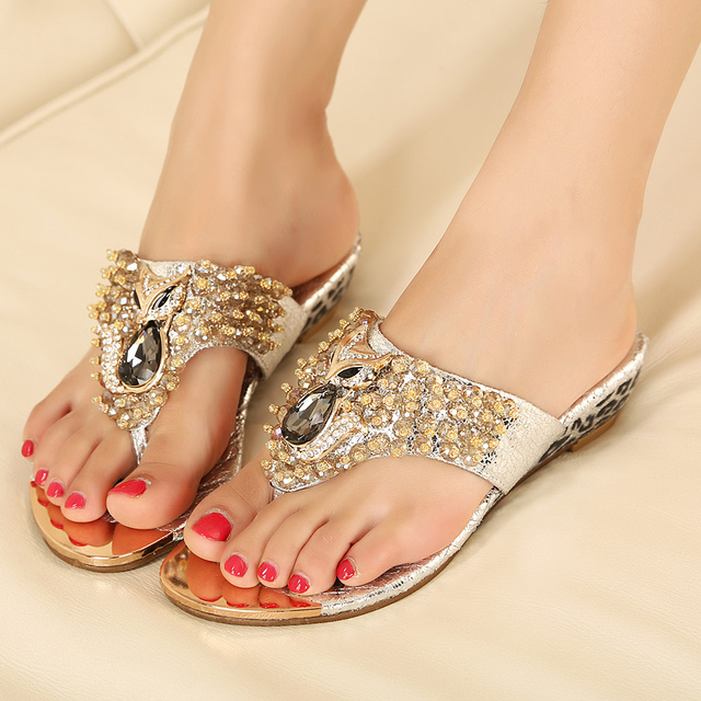 a2229bb152d6cd ... wedding shoes Crystal fox head Flip Flops princess luxury sparkling  rhinestone elegant wedges flip-  Summer Flat with Fish Mouth Crystal Jelly  Shoes PVC ...