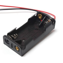 20 teile/los 2x1,5 v AAA Kunststoff Schwarz Frühling Batterie Lagerung Fall Batterie Halter batterie AA Pack Mit Schwarz & weiß 150mm Draht Führt