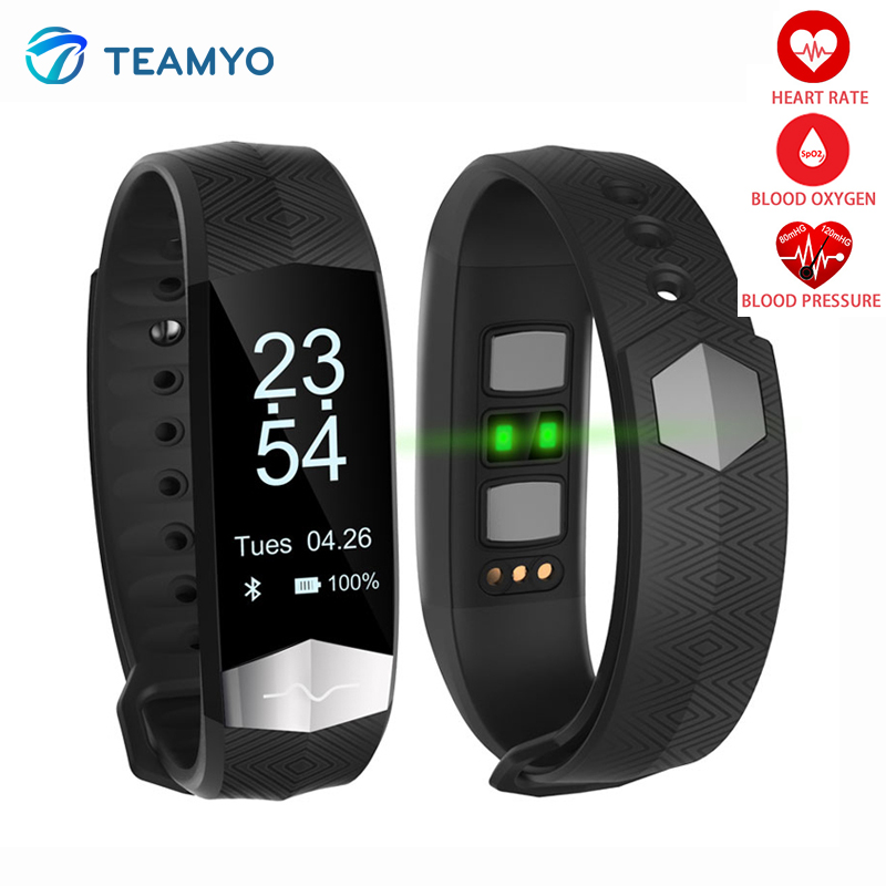 Teamyo G01 New smart band Blood pressure heart rate monitor Fitness Activity Wearable Devices Tracker Smart Bracelet watches