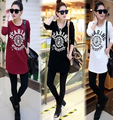 t shirt women 2017 casual Auutmn New arrival Women Round Neck fashion Loose plus size long sleeve Tunic T-shirt Tops SS128
