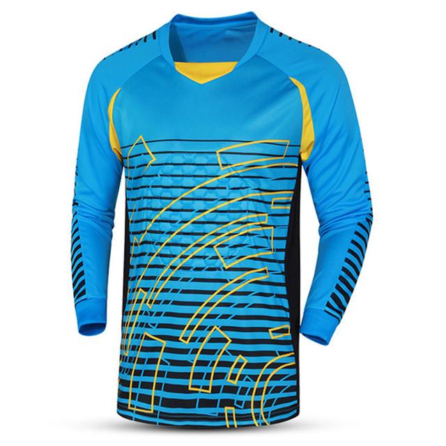 2017 New Quick Drying Men Soccer Training jersey Goalkeeper Jerseys survetement football Shirts Goalkeeper Training Tops clothes
